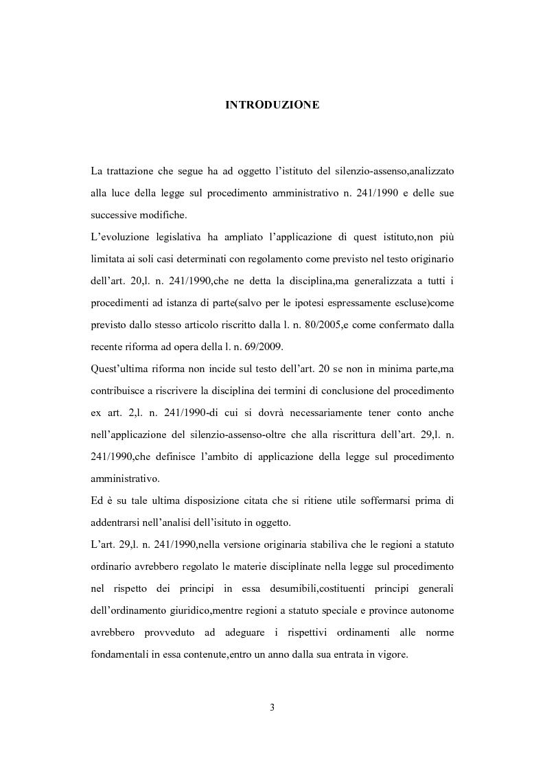 Anteprima della tesi: L'Istituto del Silenzio Assenso alla luce della L. n. 241/1990 e successive modifiche, Pagina 2