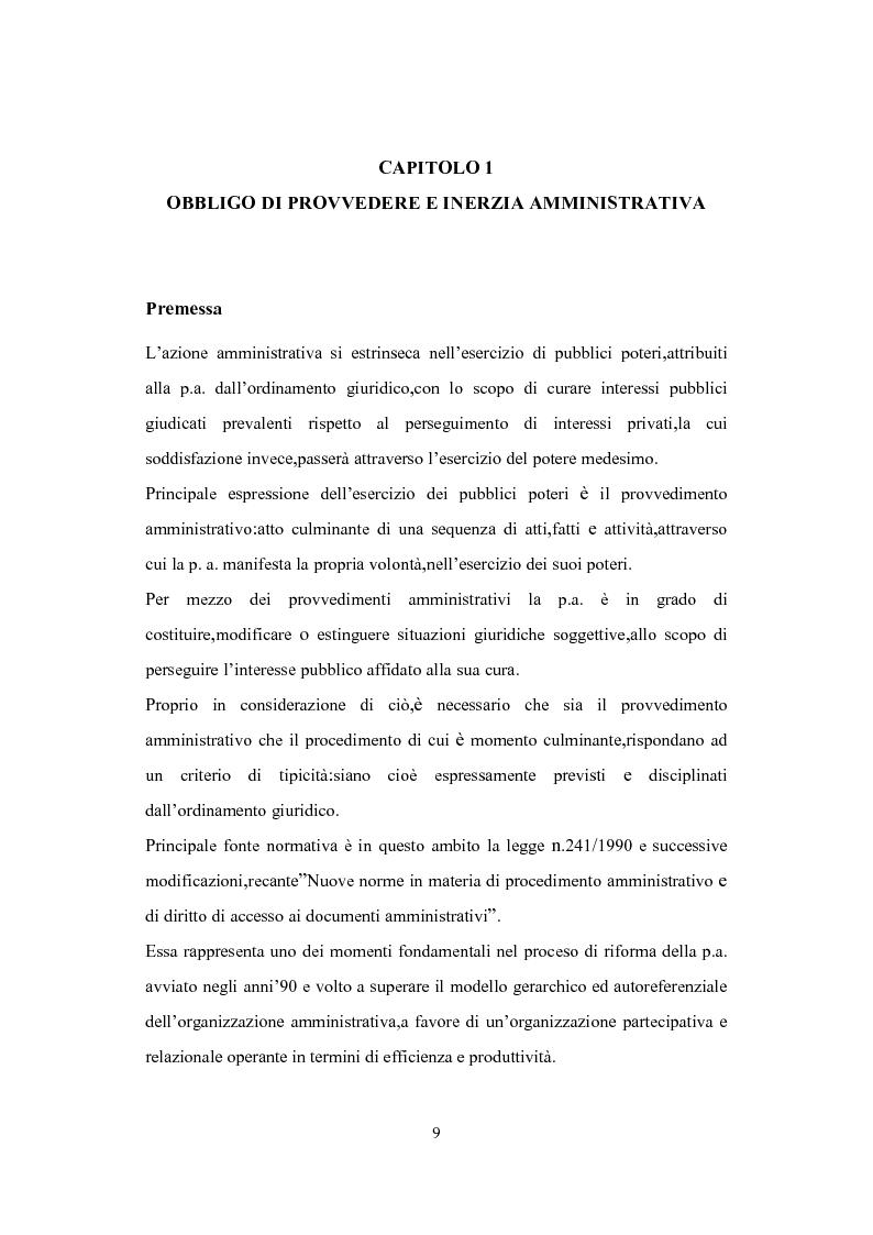Anteprima della tesi: L'Istituto del Silenzio Assenso alla luce della L. n. 241/1990 e successive modifiche, Pagina 8