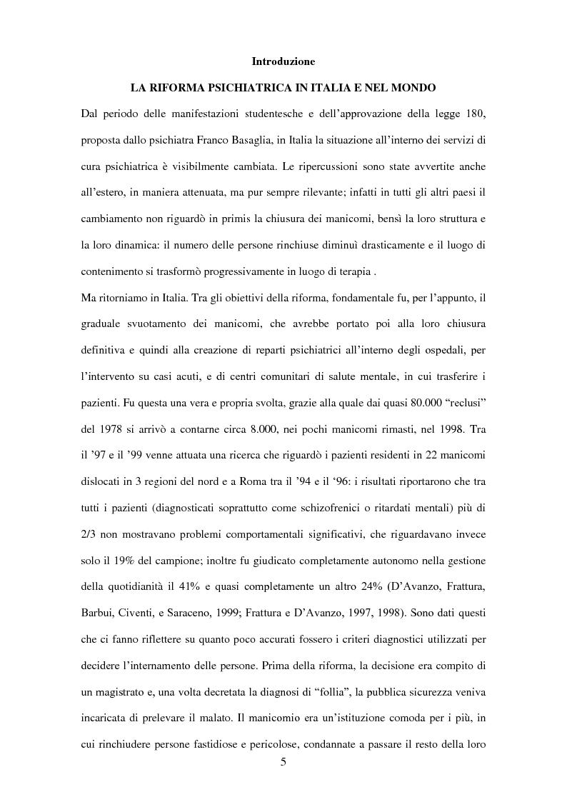 Anteprima della tesi: Stereotipi e pregiudizi nei confronti dei pazienti psichiatrici: gli effetti della riforma psichiatrica, Pagina 2