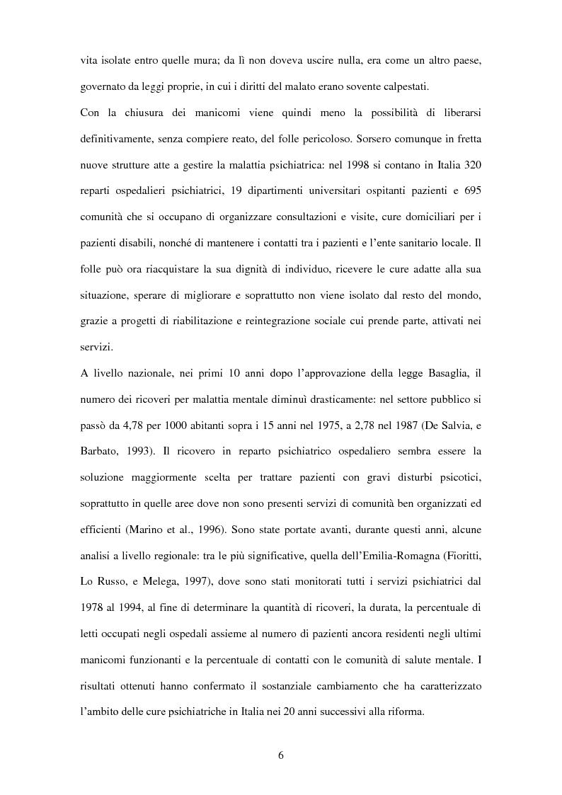 Anteprima della tesi: Stereotipi e pregiudizi nei confronti dei pazienti psichiatrici: gli effetti della riforma psichiatrica, Pagina 3