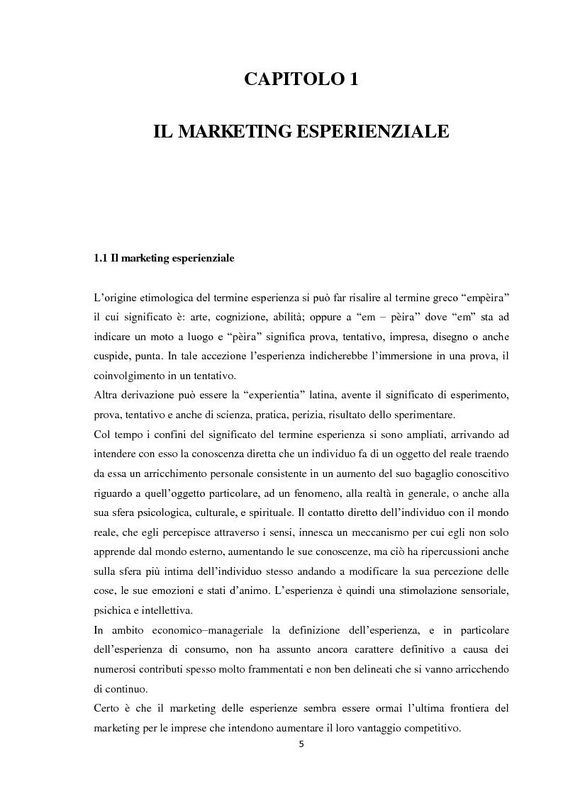 Anteprima della tesi: Il marketing esperienziale, Pagina 2
