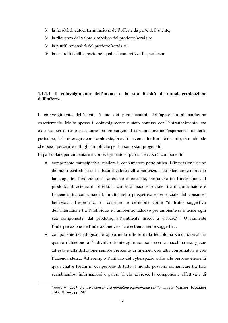 Anteprima della tesi: Il marketing esperienziale, Pagina 4
