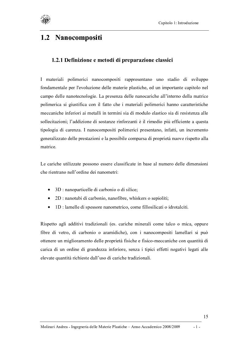 Anteprima della tesi: Studio delle proprietà dinamico-meccaniche di nanocompositi polimerici, Pagina 3