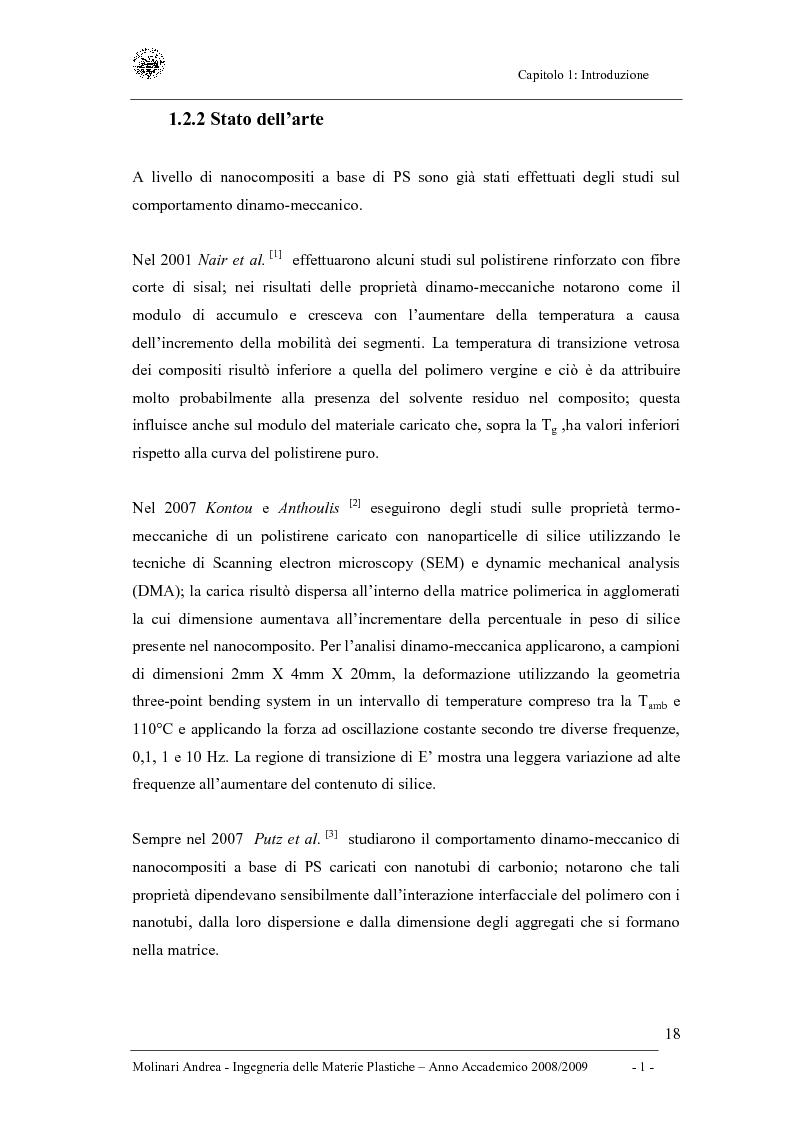 Anteprima della tesi: Studio delle proprietà dinamico-meccaniche di nanocompositi polimerici, Pagina 6