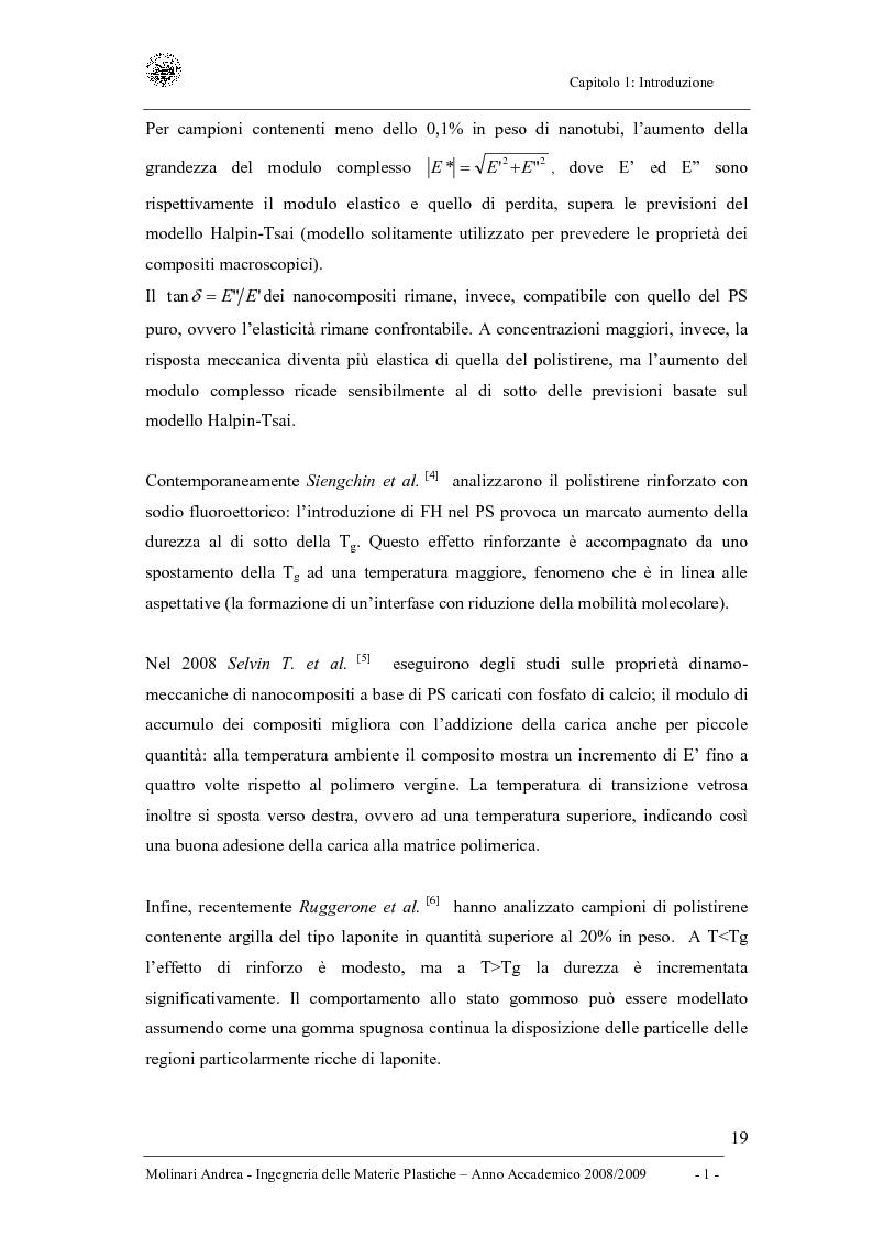 Anteprima della tesi: Studio delle proprietà dinamico-meccaniche di nanocompositi polimerici, Pagina 7