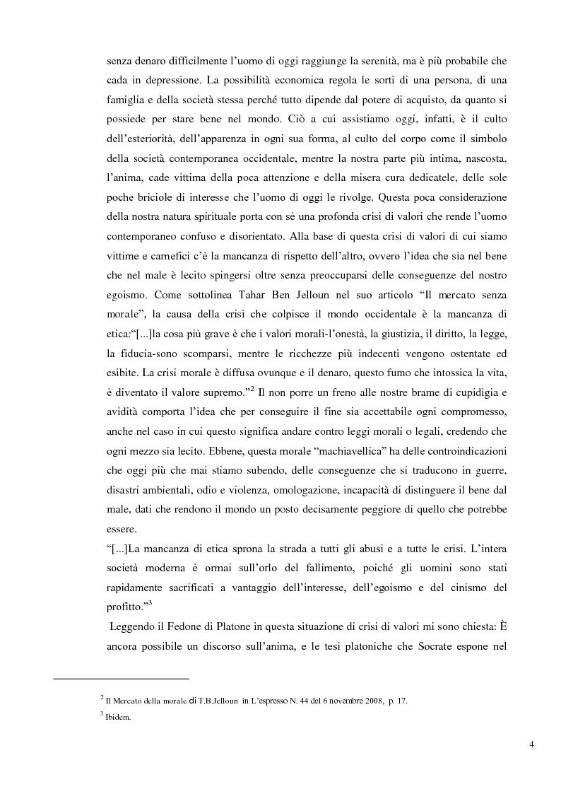 Anteprima della tesi: L'immortalità dell'anima e il Socrate morente, Pagina 3