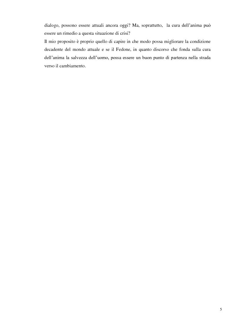 Anteprima della tesi: L'immortalità dell'anima e il Socrate morente, Pagina 4