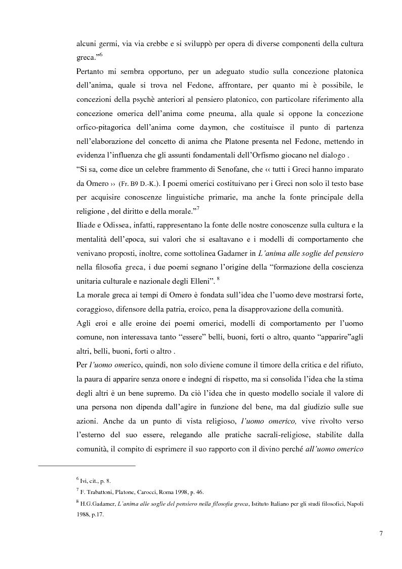 Anteprima della tesi: L'immortalità dell'anima e il Socrate morente, Pagina 6