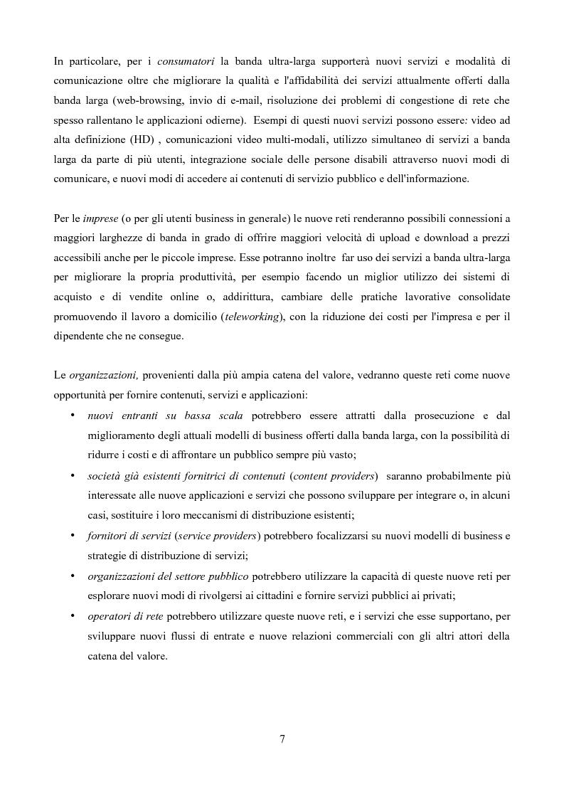 Anteprima della tesi: Competizione e regolamentazione nel settore delle telecomunicazioni, Pagina 3
