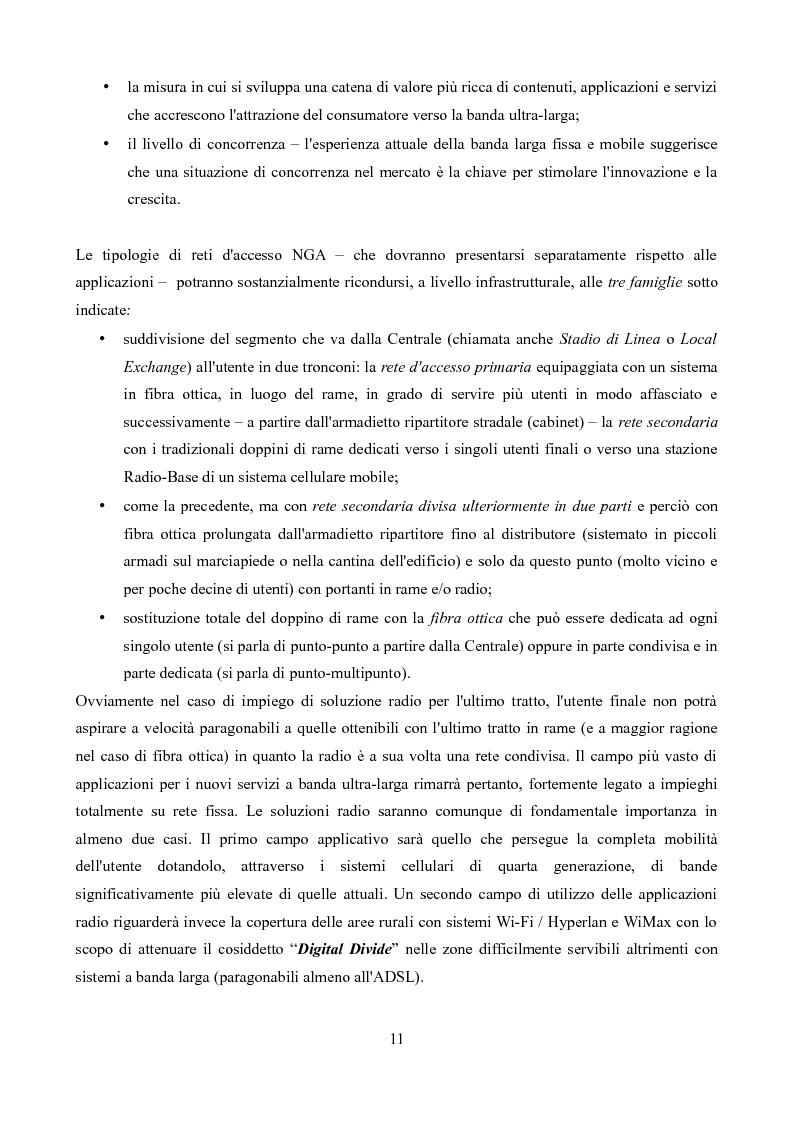 Anteprima della tesi: Competizione e regolamentazione nel settore delle telecomunicazioni, Pagina 7