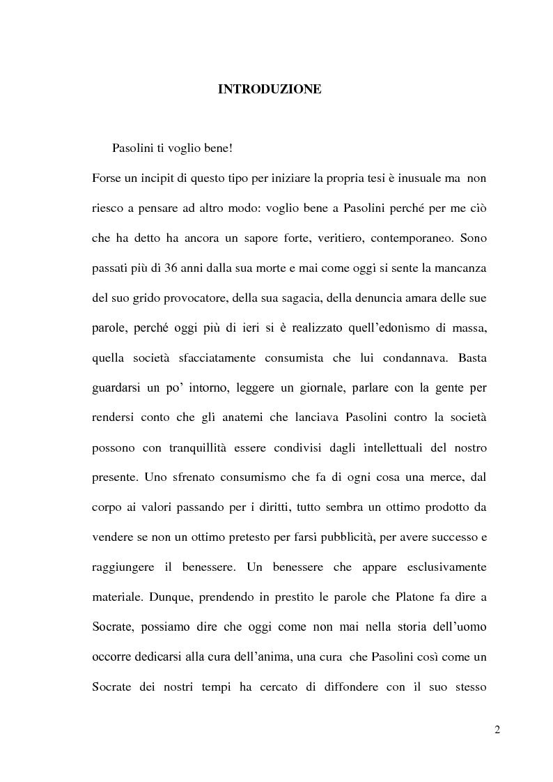 Anteprima della tesi: Pier Paolo Pasolini: arte, impegno e critica di un marxista eretico, Pagina 2