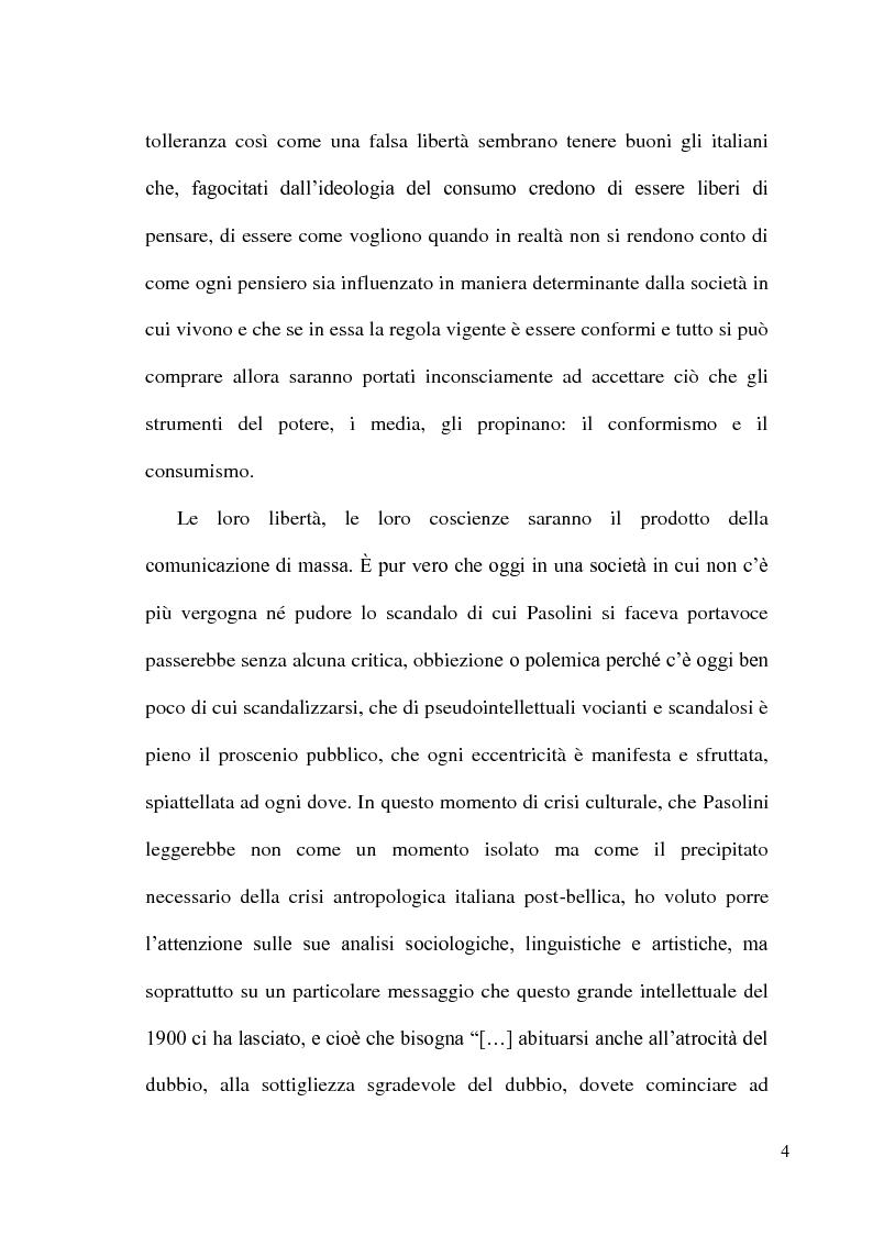 Anteprima della tesi: Pier Paolo Pasolini: arte, impegno e critica di un marxista eretico, Pagina 4