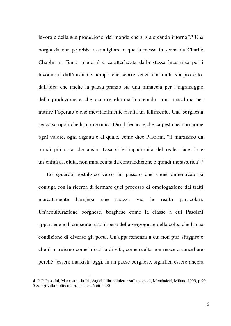 Anteprima della tesi: Pier Paolo Pasolini: arte, impegno e critica di un marxista eretico, Pagina 6