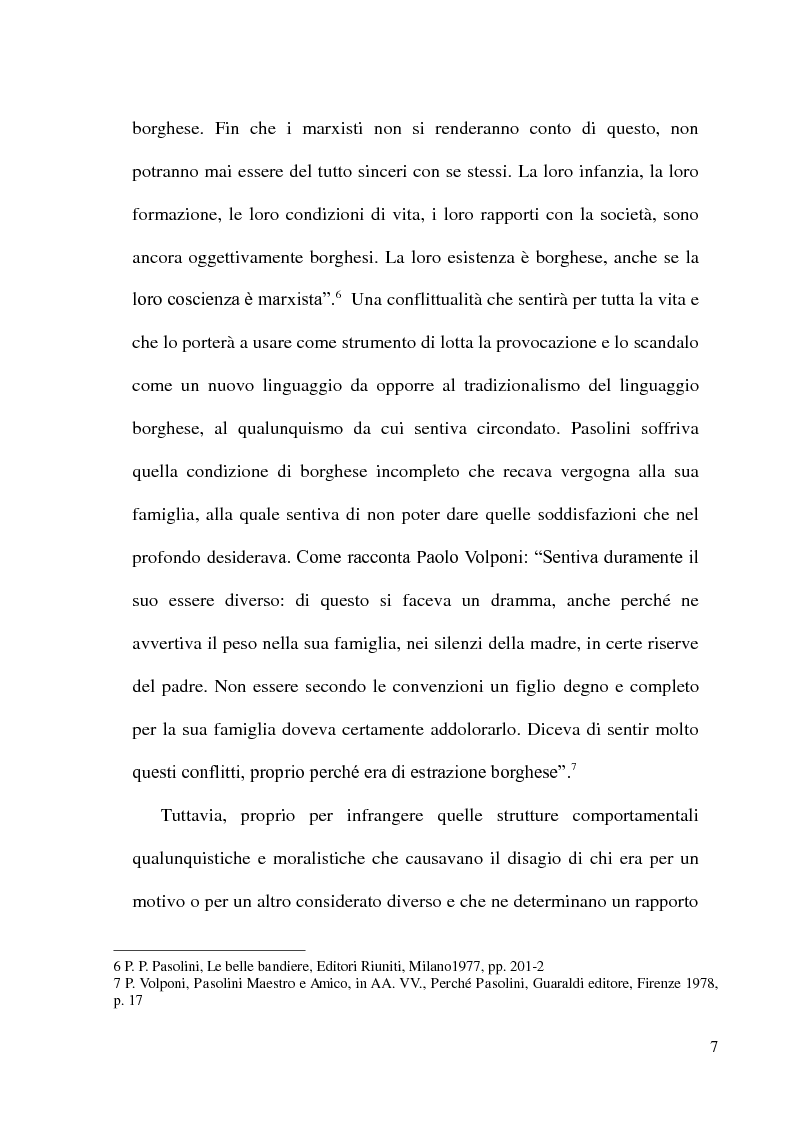 Anteprima della tesi: Pier Paolo Pasolini: arte, impegno e critica di un marxista eretico, Pagina 7