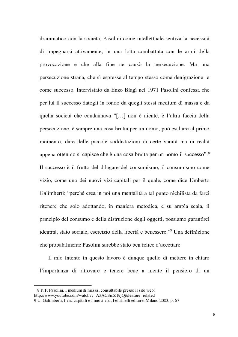 Anteprima della tesi: Pier Paolo Pasolini: arte, impegno e critica di un marxista eretico, Pagina 8