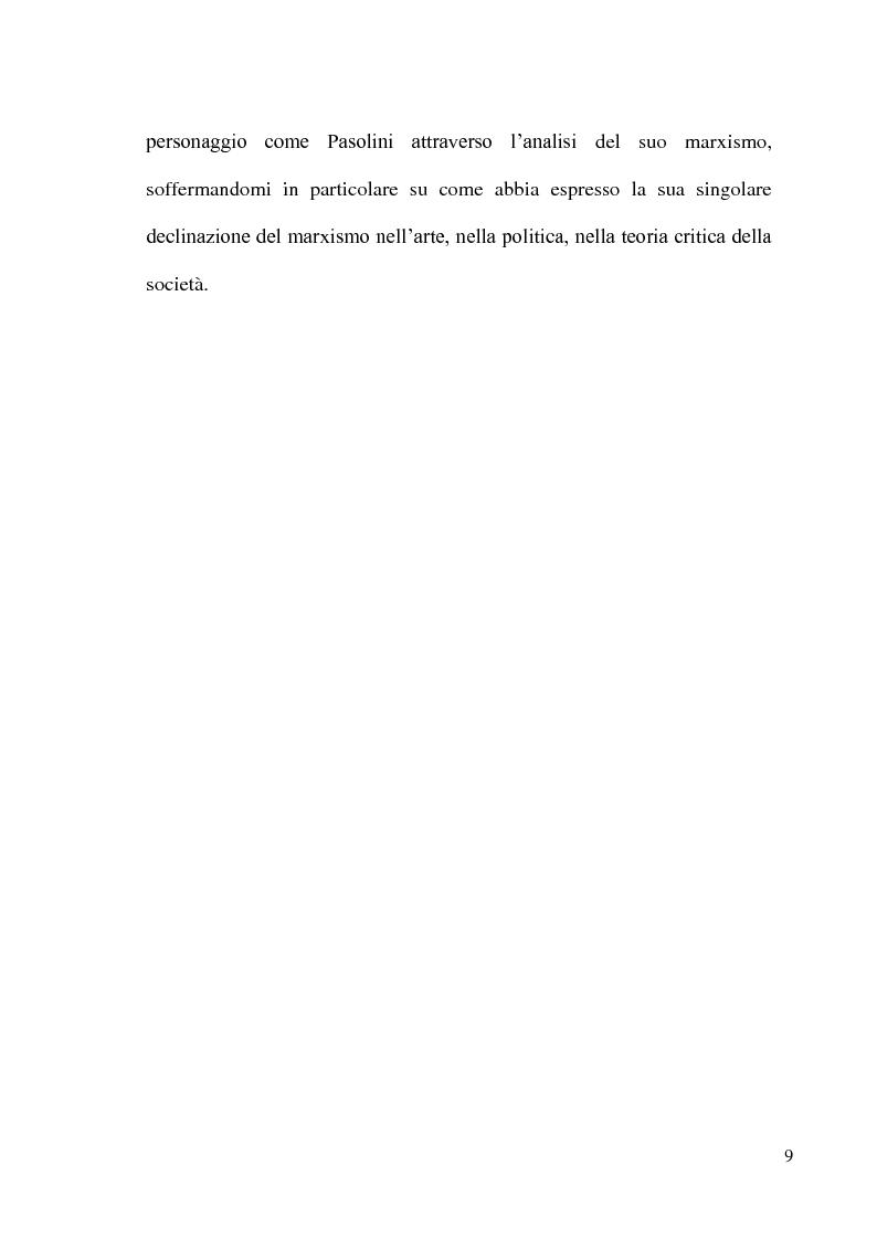 Anteprima della tesi: Pier Paolo Pasolini: arte, impegno e critica di un marxista eretico, Pagina 9