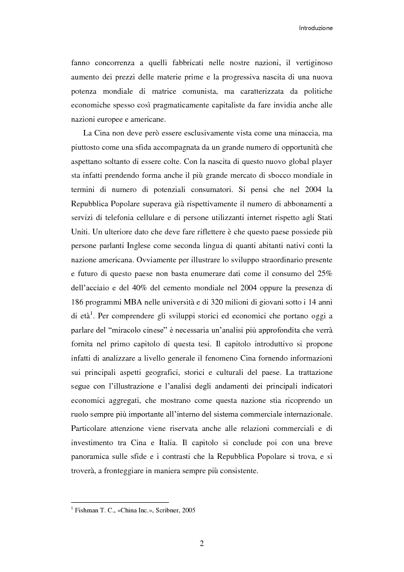 Anteprima della tesi: L'ingresso della Cina in Occidente. Strategie bidirezionali di internazionalizzazione delle imprese. Ipotesi teoriche e casi esemplificativi, Pagina 3