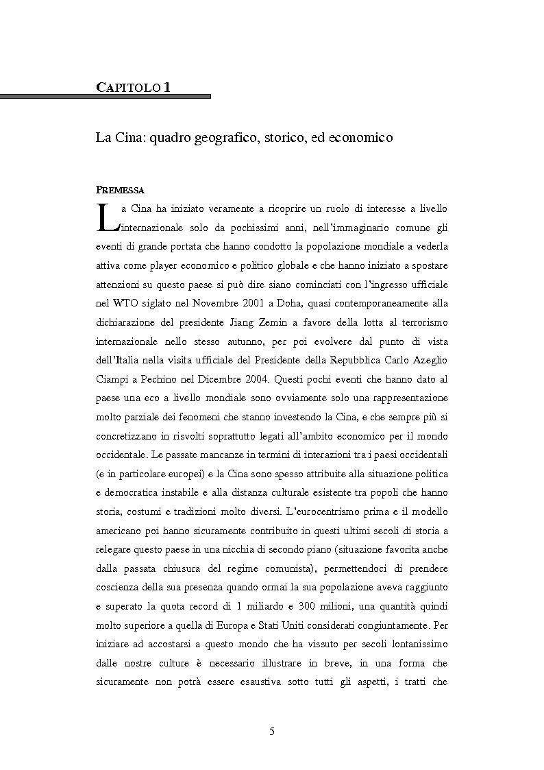 Anteprima della tesi: L'ingresso della Cina in Occidente. Strategie bidirezionali di internazionalizzazione delle imprese. Ipotesi teoriche e casi esemplificativi, Pagina 6