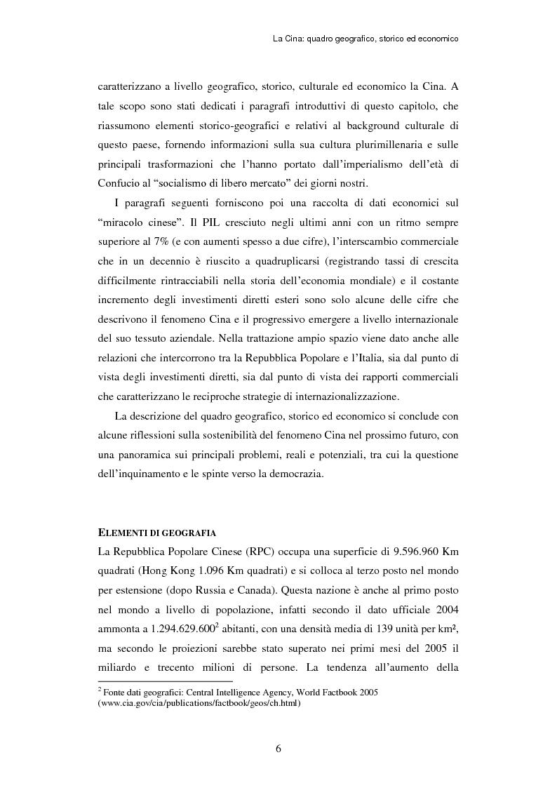 Anteprima della tesi: L'ingresso della Cina in Occidente. Strategie bidirezionali di internazionalizzazione delle imprese. Ipotesi teoriche e casi esemplificativi, Pagina 7