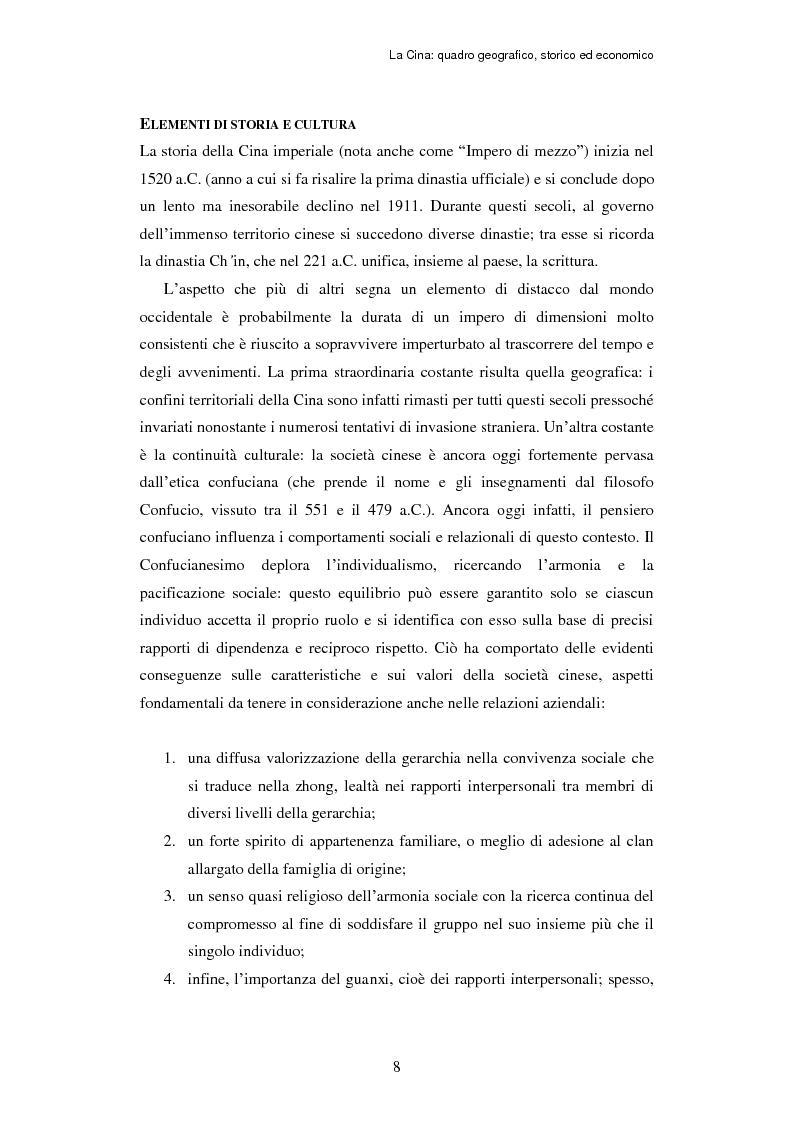 Anteprima della tesi: L'ingresso della Cina in Occidente. Strategie bidirezionali di internazionalizzazione delle imprese. Ipotesi teoriche e casi esemplificativi, Pagina 9