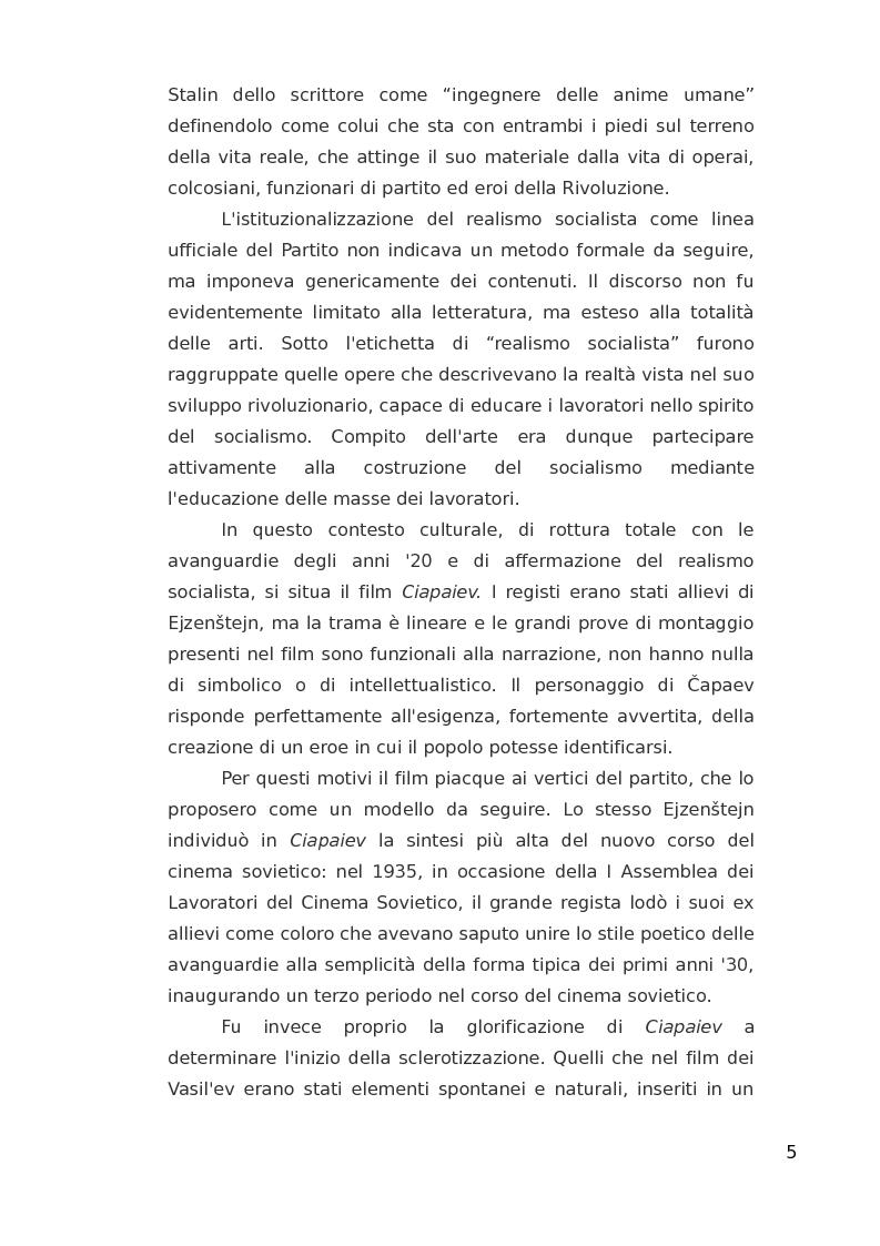Anteprima della tesi: ''Ciapaiev'' tra l'Unione Sovietica e l'Occidente, Pagina 6