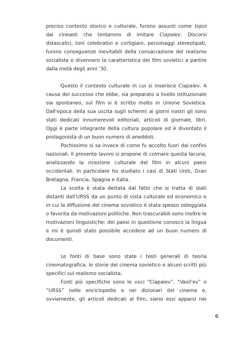 Anteprima della tesi: ''Ciapaiev'' tra l'Unione Sovietica e l'Occidente, Pagina 7