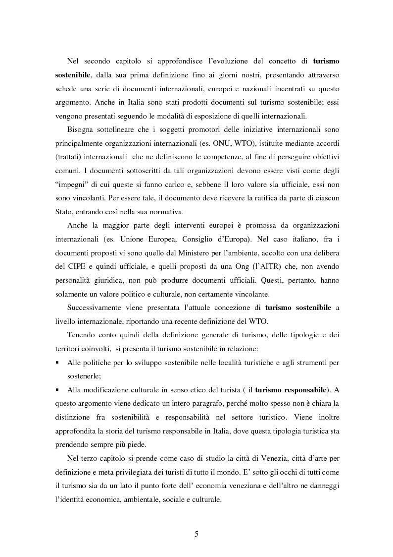 Anteprima della tesi: Analisi dei quadri di riferimento per il turismo sostenibile tra teoria e pratica, Pagina 3