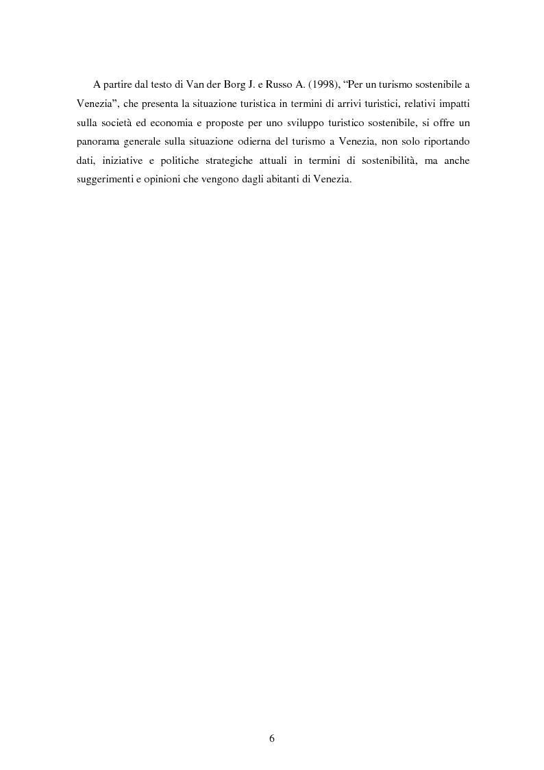 Anteprima della tesi: Analisi dei quadri di riferimento per il turismo sostenibile tra teoria e pratica, Pagina 4