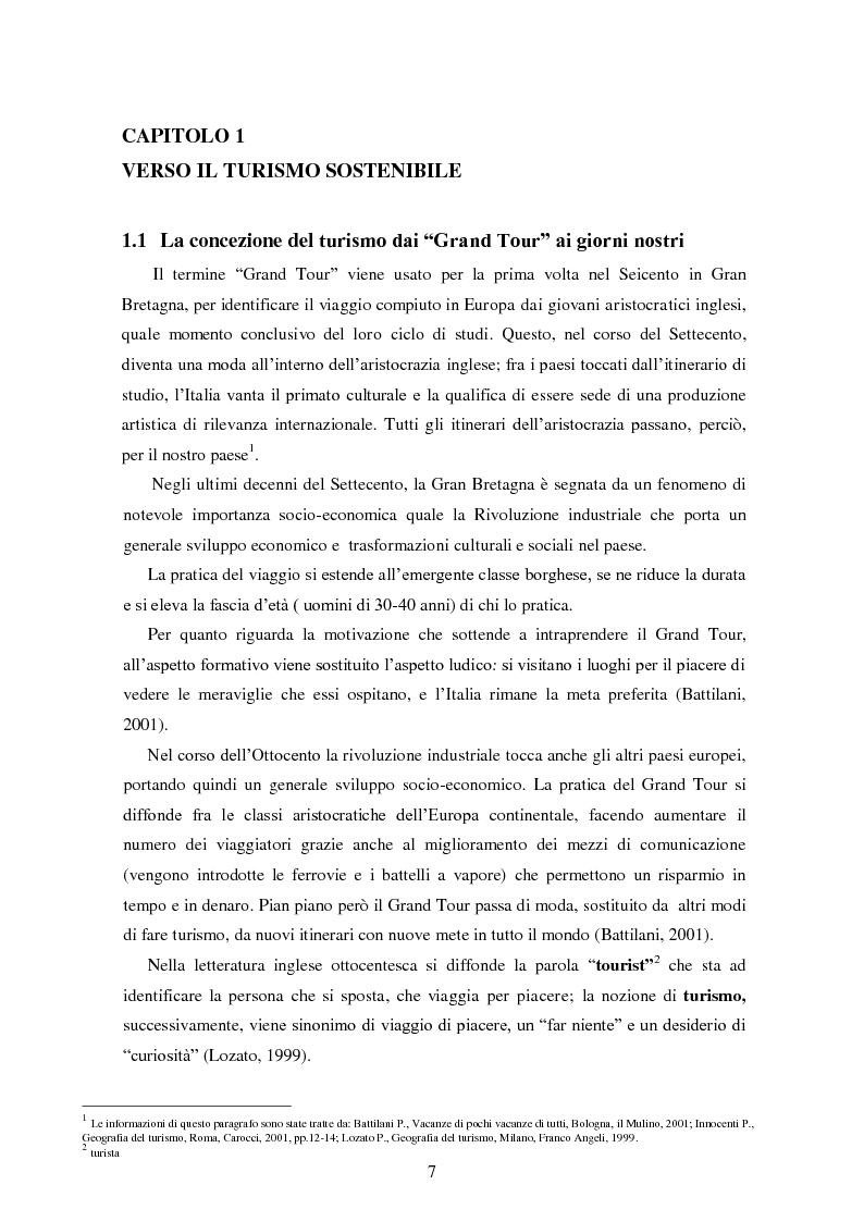 Anteprima della tesi: Analisi dei quadri di riferimento per il turismo sostenibile tra teoria e pratica, Pagina 5