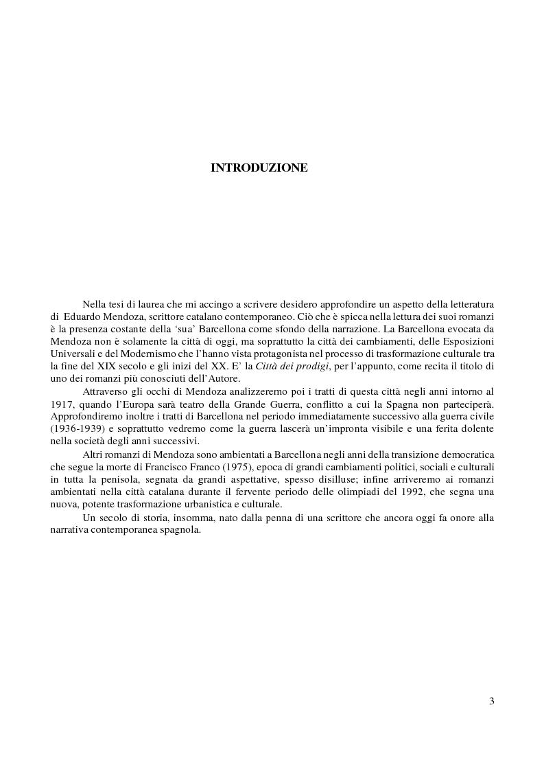 Anteprima della tesi: L'immagine di Barcellona in Eduardo Mendoza, Pagina 2