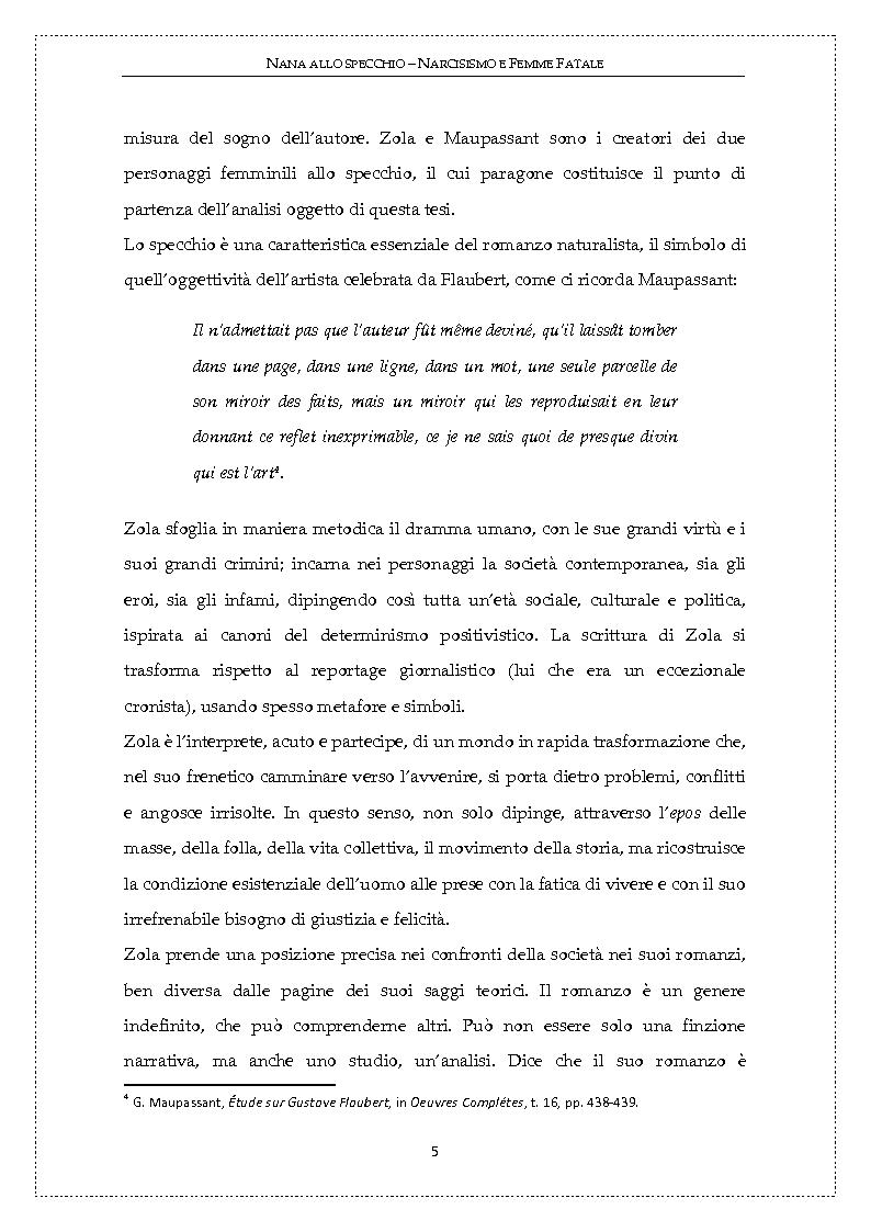 Anteprima della tesi: Nanà allo specchio: narcisismo e femme fatale, Pagina 4