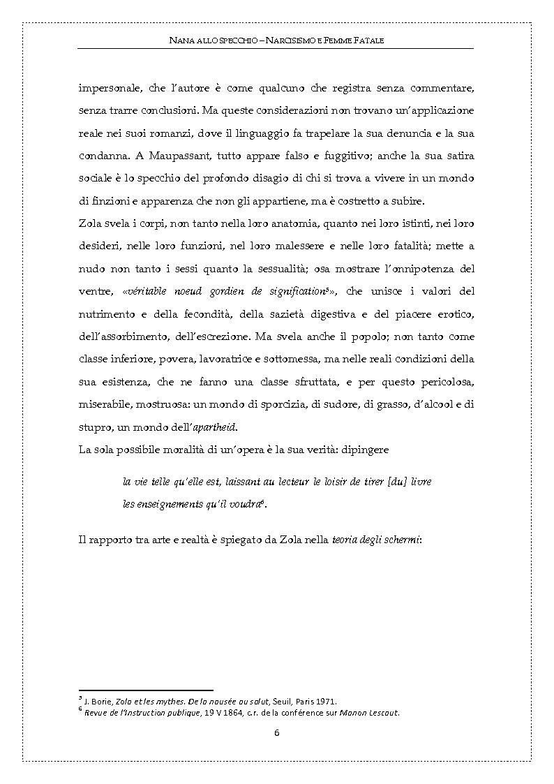 Anteprima della tesi: Nanà allo specchio: narcisismo e femme fatale, Pagina 5