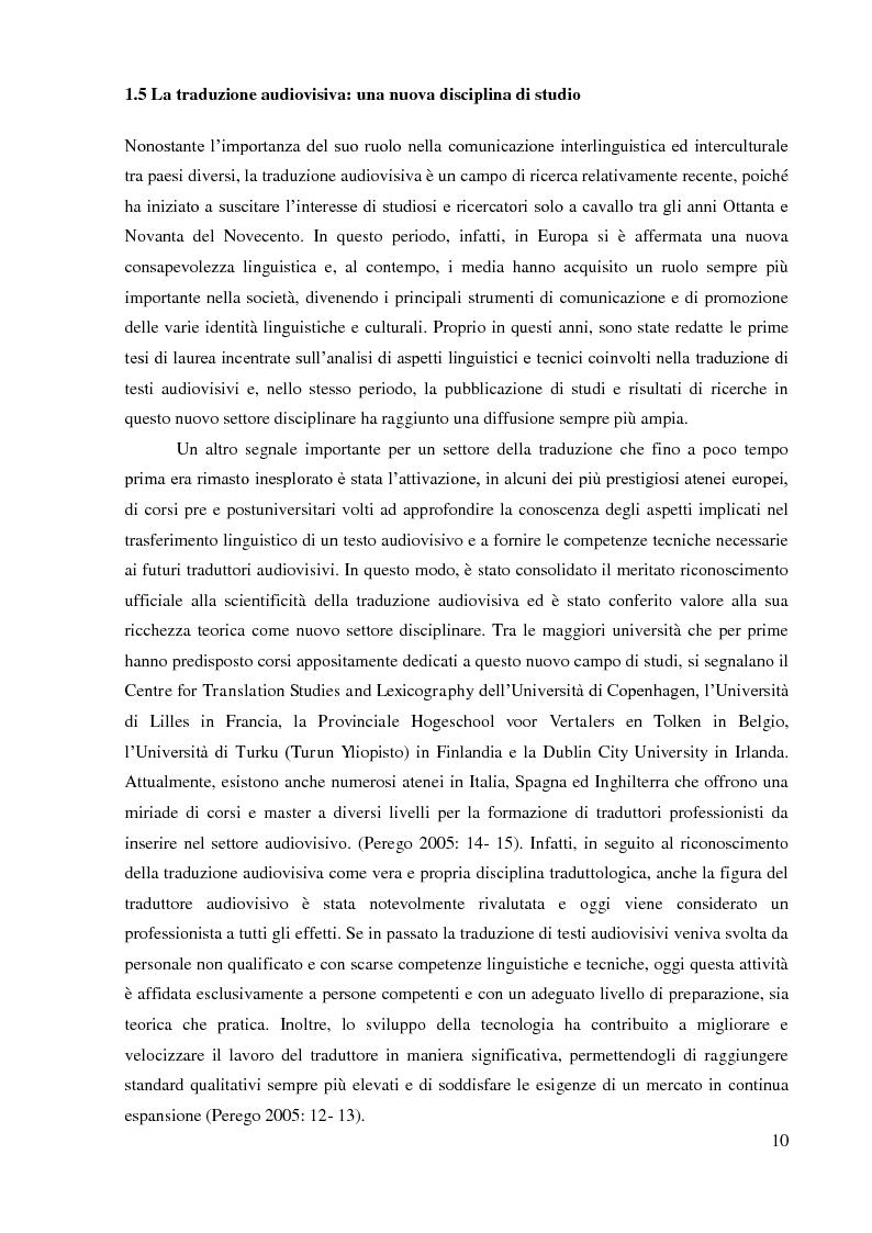 Anteprima della tesi: La sopratitolazione di un'opera lirica: caratteristiche e differenze con la sottotitolazione di prodotti filmici, Pagina 11