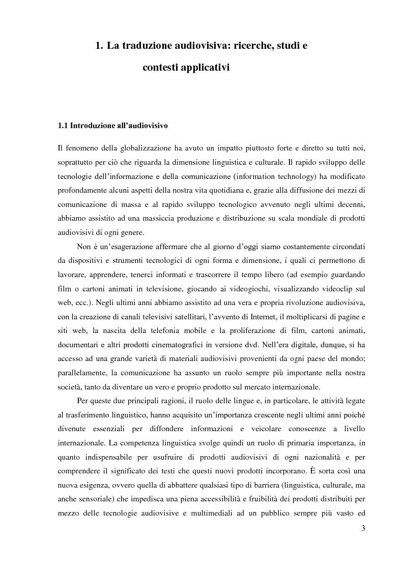 Anteprima della tesi: La sopratitolazione di un'opera lirica: caratteristiche e differenze con la sottotitolazione di prodotti filmici, Pagina 4