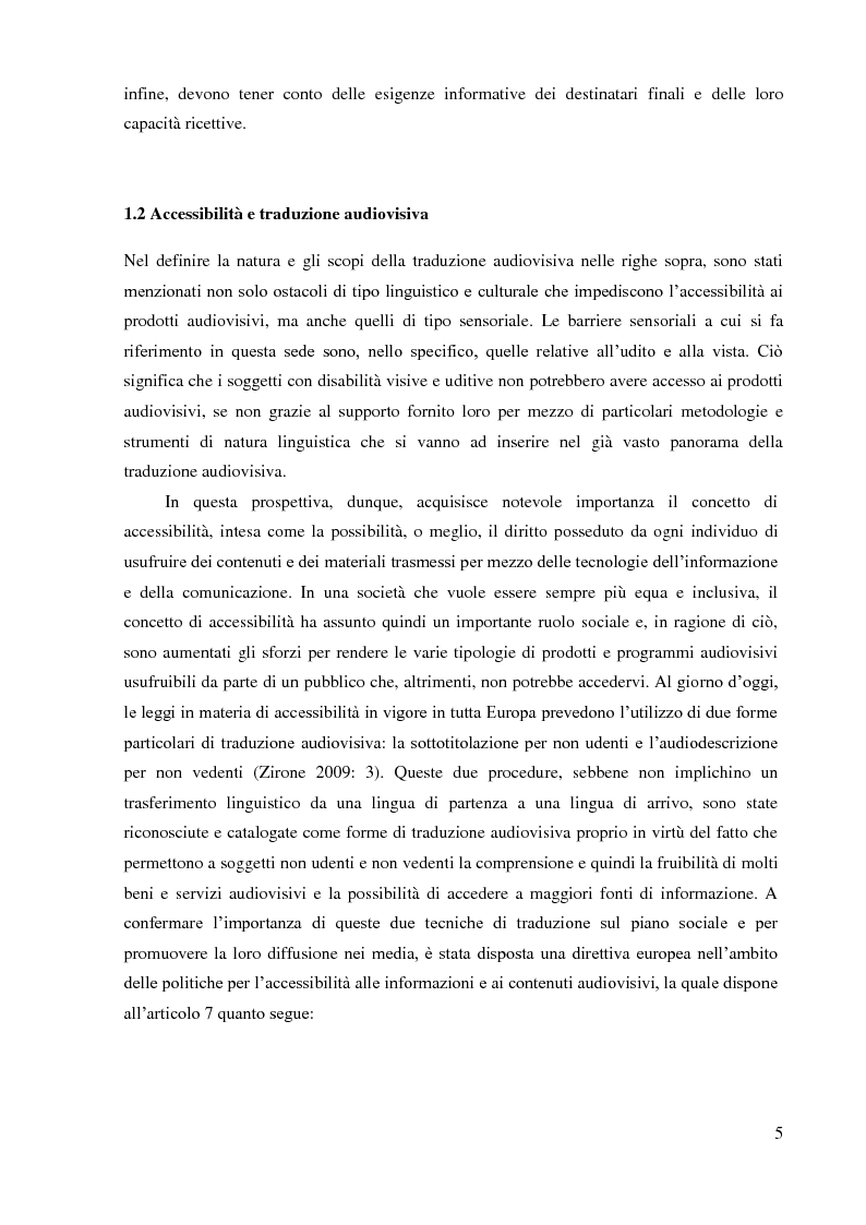 Anteprima della tesi: La sopratitolazione di un'opera lirica: caratteristiche e differenze con la sottotitolazione di prodotti filmici, Pagina 6