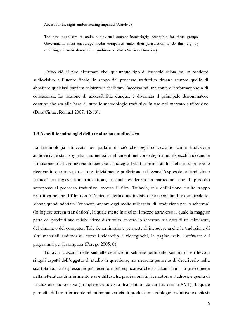 Anteprima della tesi: La sopratitolazione di un'opera lirica: caratteristiche e differenze con la sottotitolazione di prodotti filmici, Pagina 7