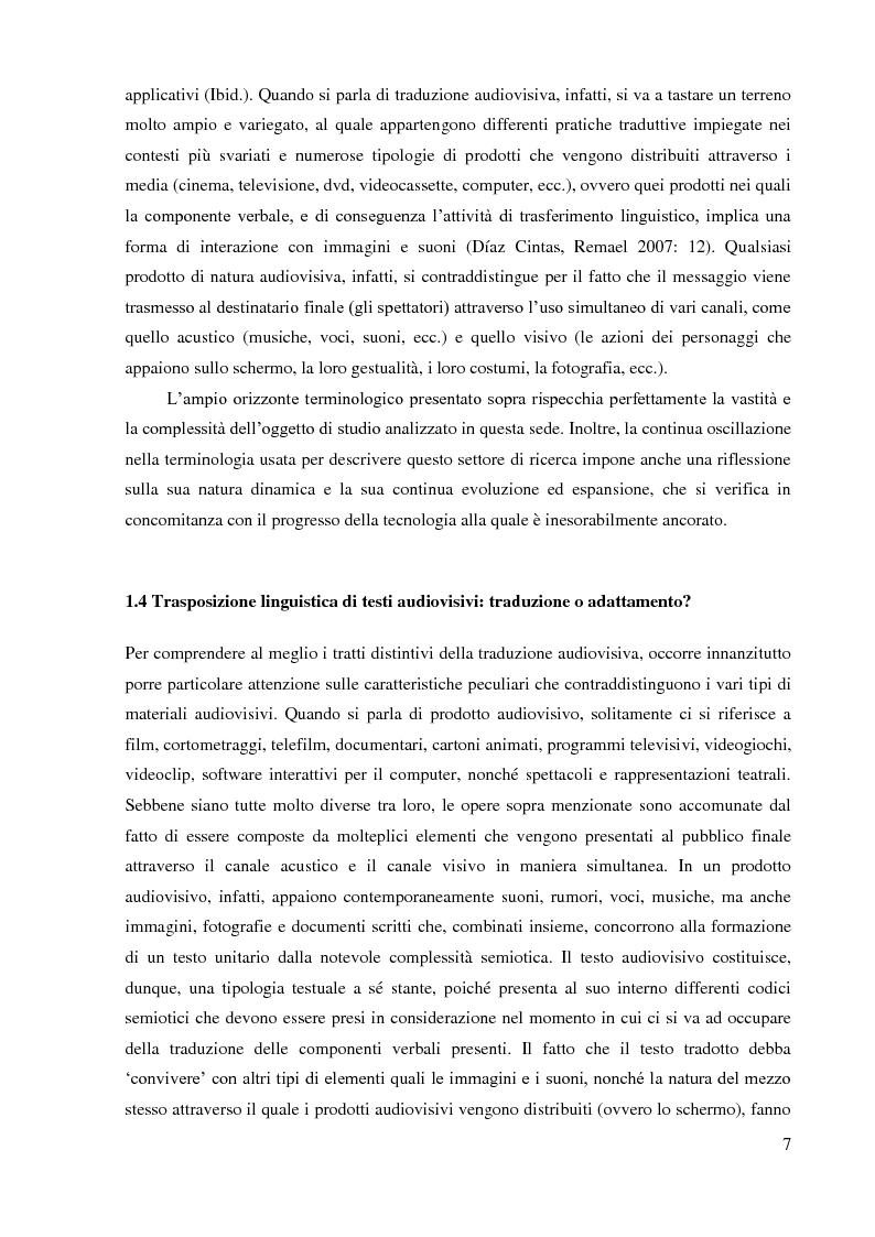 Anteprima della tesi: La sopratitolazione di un'opera lirica: caratteristiche e differenze con la sottotitolazione di prodotti filmici, Pagina 8