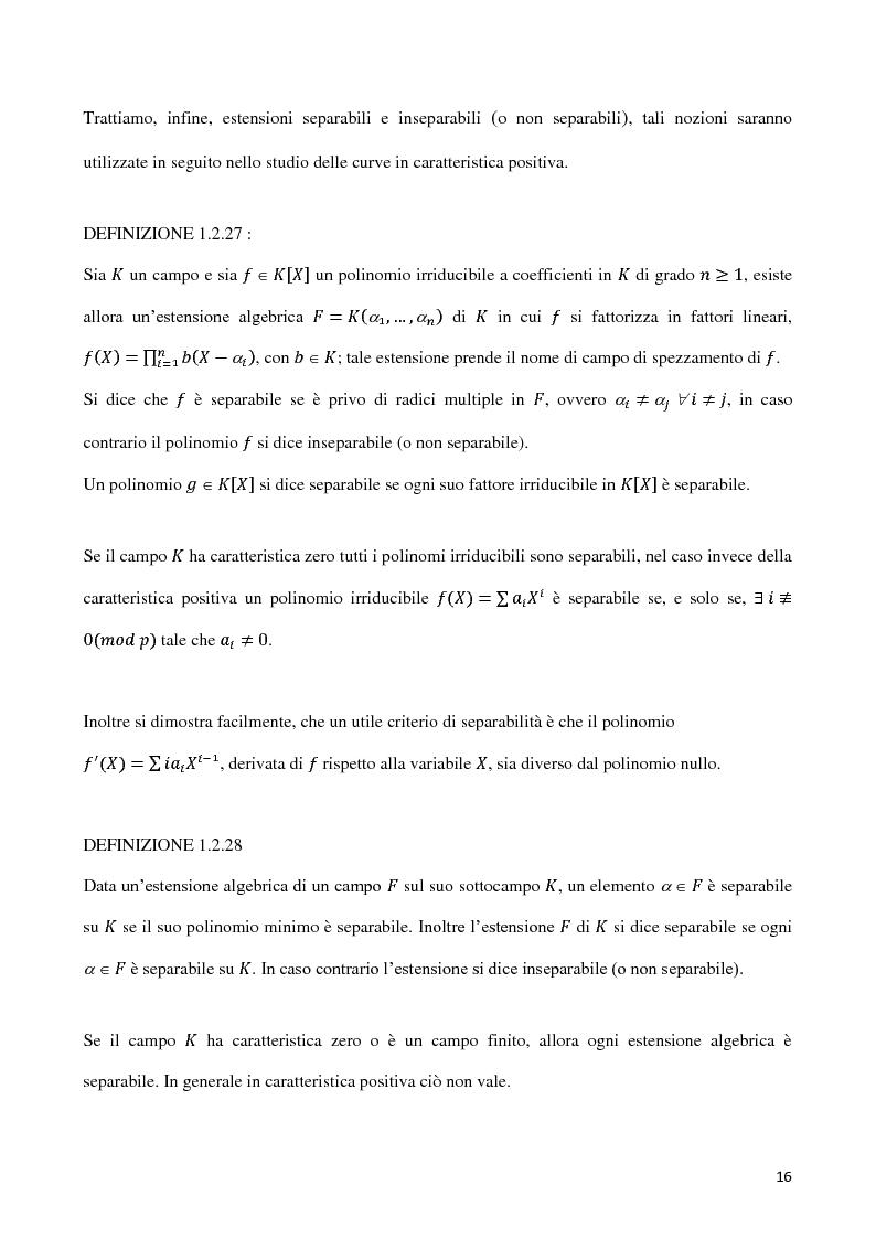 Anteprima della tesi: Curve algebriche piane e serie lineari, Pagina 13
