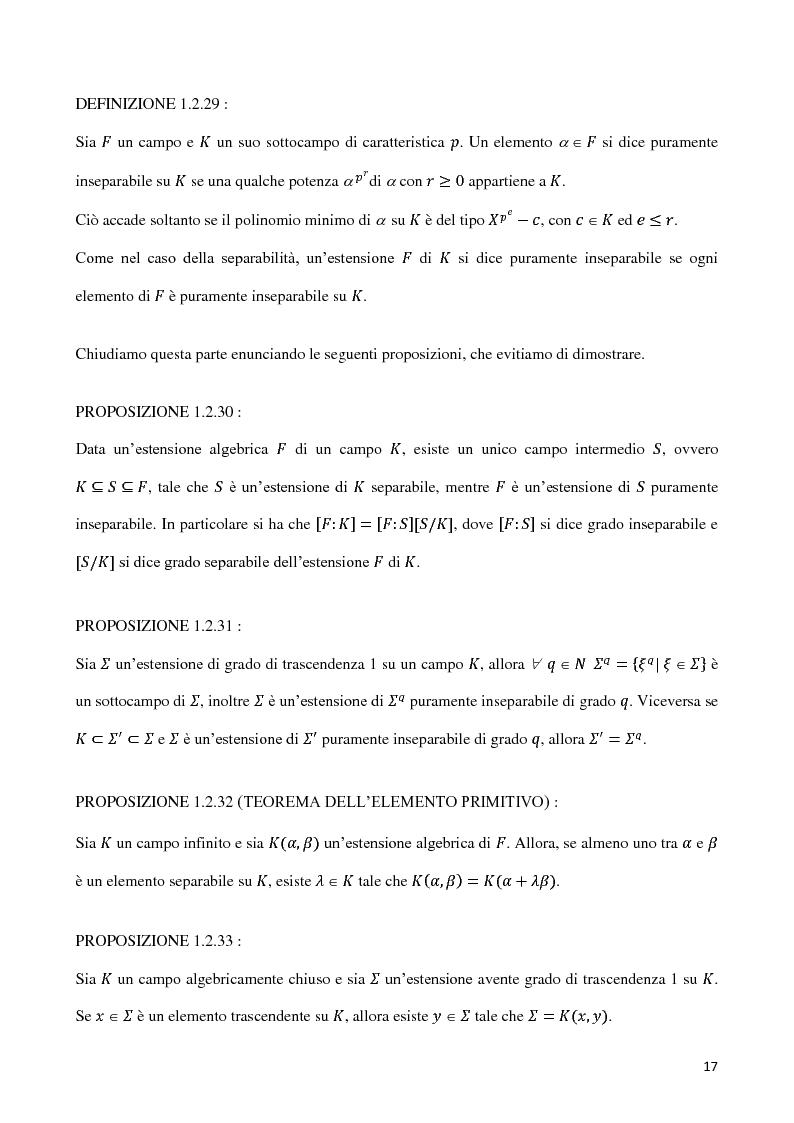 Anteprima della tesi: Curve algebriche piane e serie lineari, Pagina 14