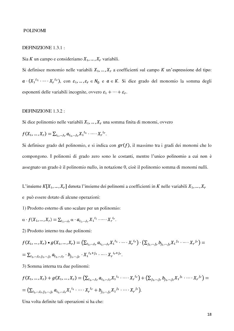Anteprima della tesi: Curve algebriche piane e serie lineari, Pagina 15