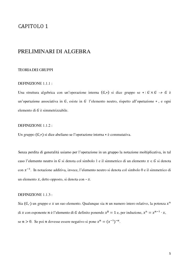 Anteprima della tesi: Curve algebriche piane e serie lineari, Pagina 2