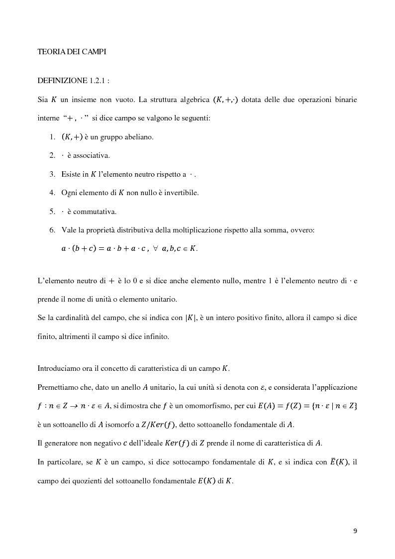 Anteprima della tesi: Curve algebriche piane e serie lineari, Pagina 6