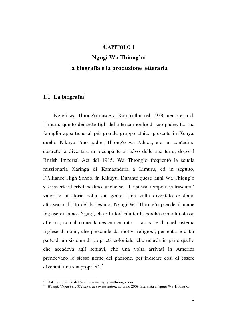 Anteprima della tesi: Ngugi wa Thiong'o e la politica linguistica nella letteratura africana postcoloniale, Pagina 2
