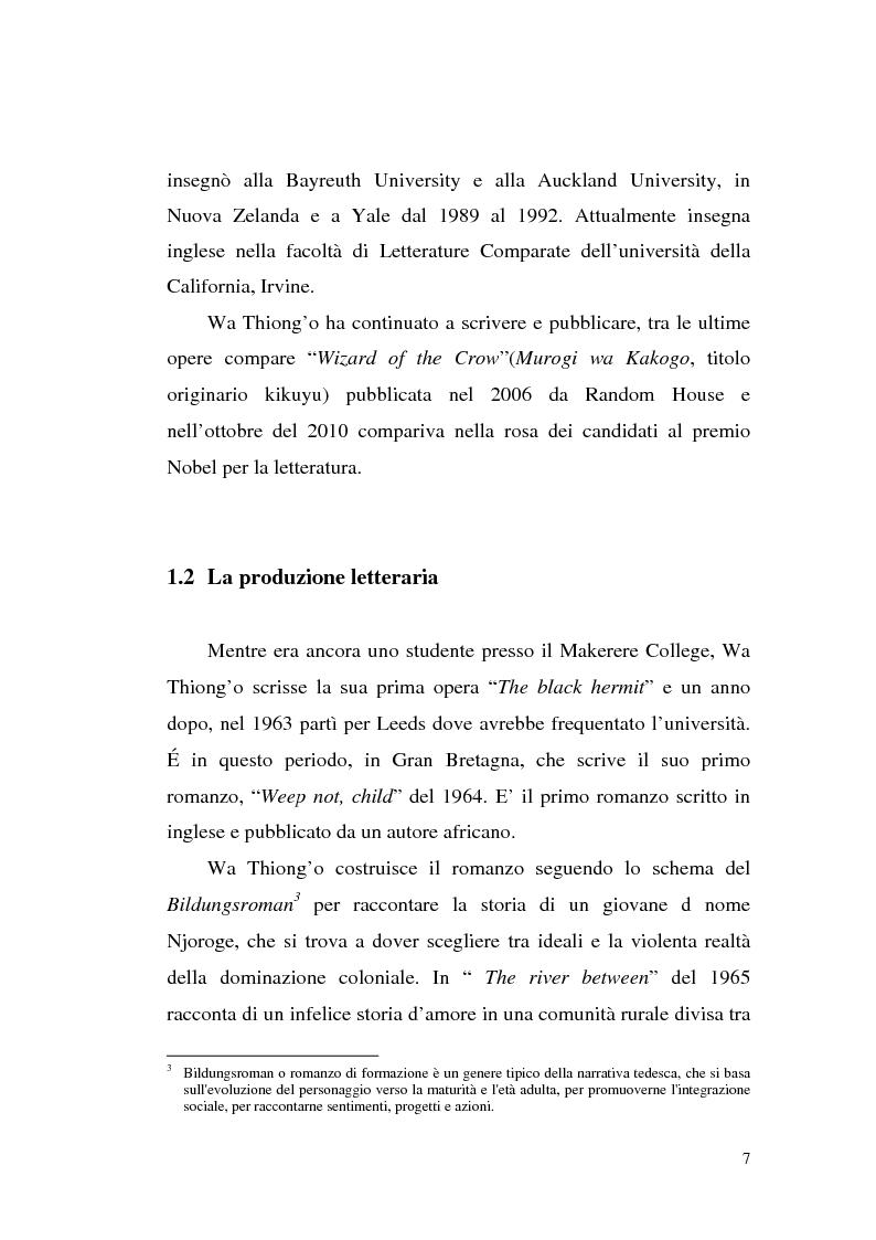 Anteprima della tesi: Ngugi wa Thiong'o e la politica linguistica nella letteratura africana postcoloniale, Pagina 5