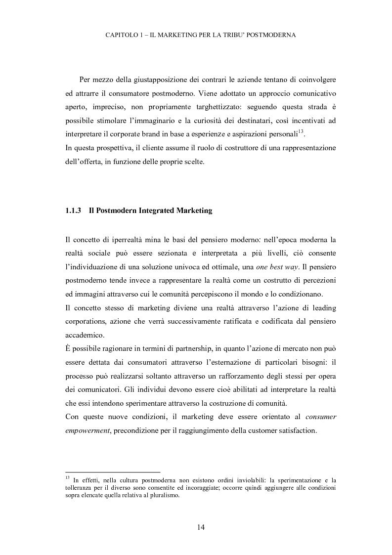 Estratto dalla tesi: Le tribù di Internet: una nuova applicazione del marketing nel virtuale