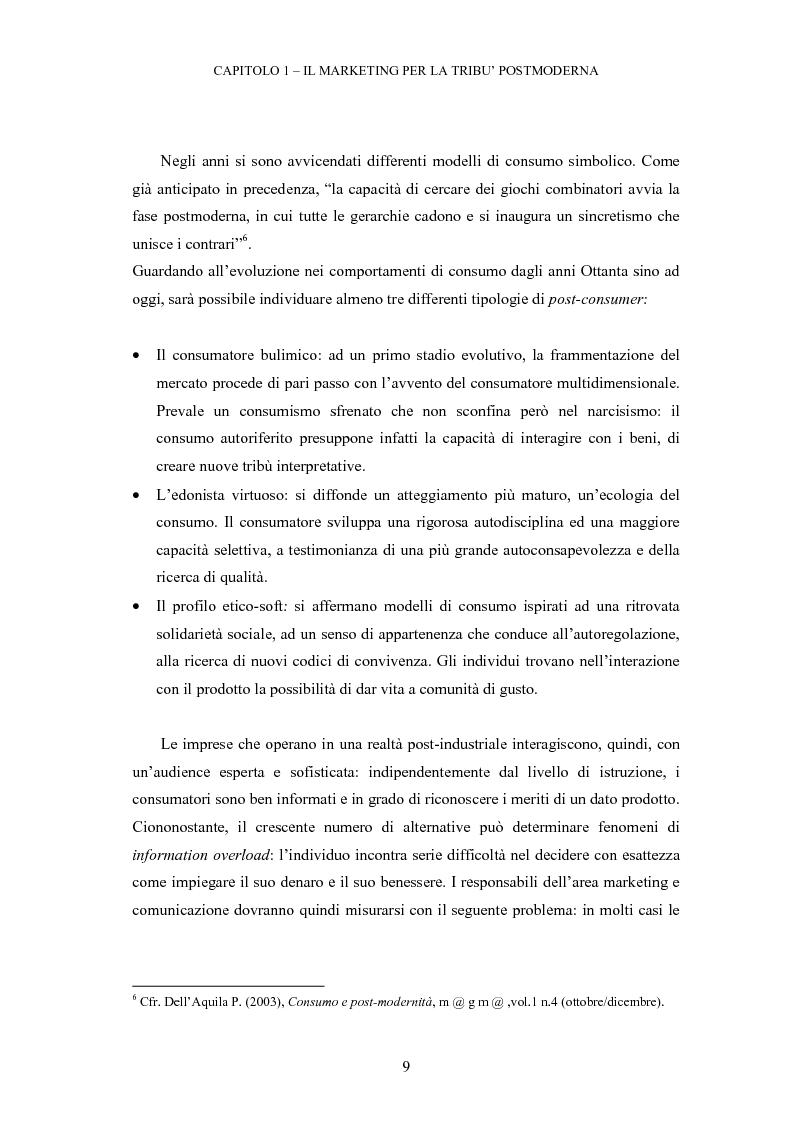 Anteprima della tesi: Le tribù di Internet: una nuova applicazione del marketing nel virtuale, Pagina 10
