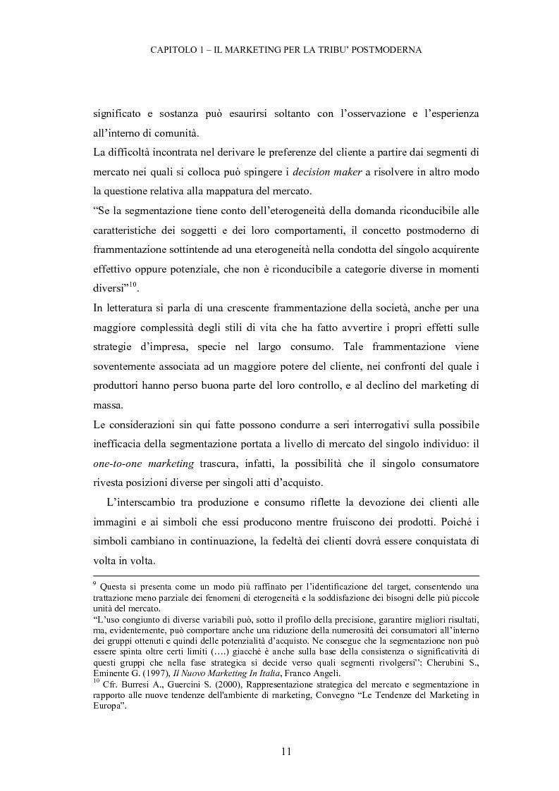 Anteprima della tesi: Le tribù di Internet: una nuova applicazione del marketing nel virtuale, Pagina 12