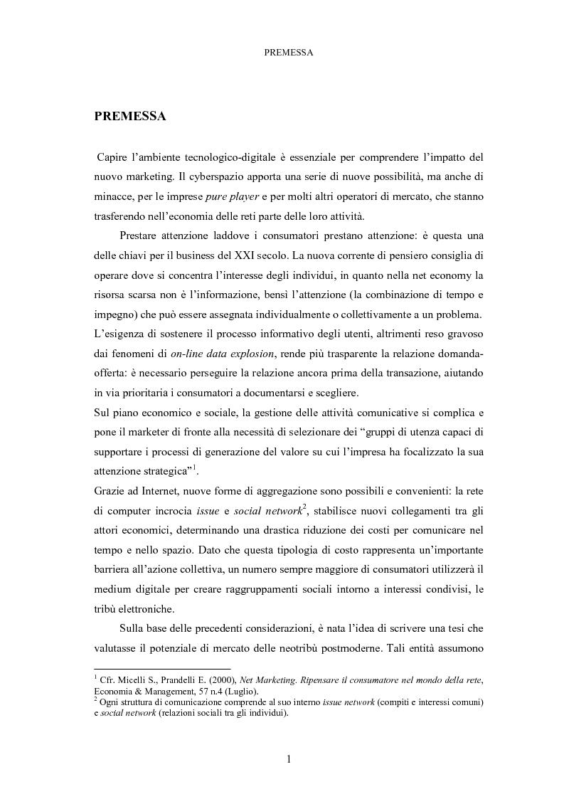 Anteprima della tesi: Le tribù di Internet: una nuova applicazione del marketing nel virtuale, Pagina 2
