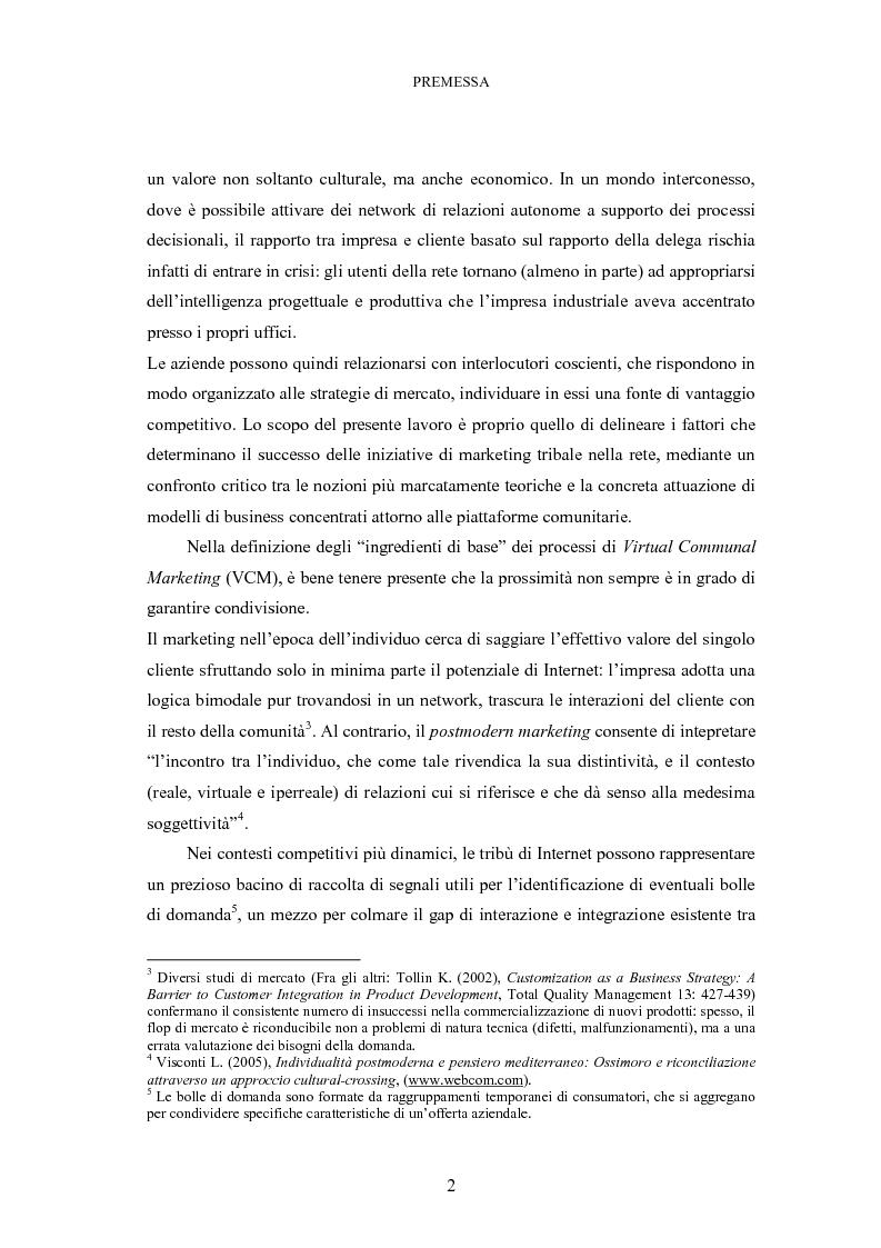Anteprima della tesi: Le tribù di Internet: una nuova applicazione del marketing nel virtuale, Pagina 3