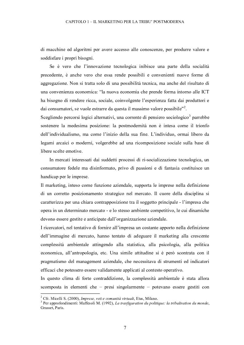 Anteprima della tesi: Le tribù di Internet: una nuova applicazione del marketing nel virtuale, Pagina 8